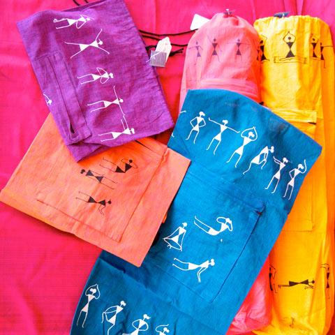 Painted Yoga Mat Hastkala-yoga-mat-bag