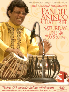 Anindo Chatterjee Concert Flyer-June 2014