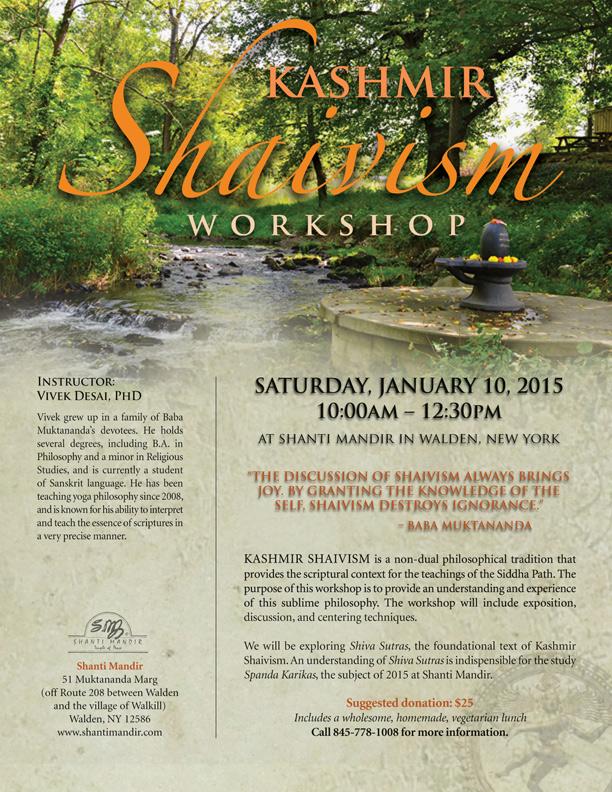 Kashmir Shaivism Workshop Flyer-Jan 2015