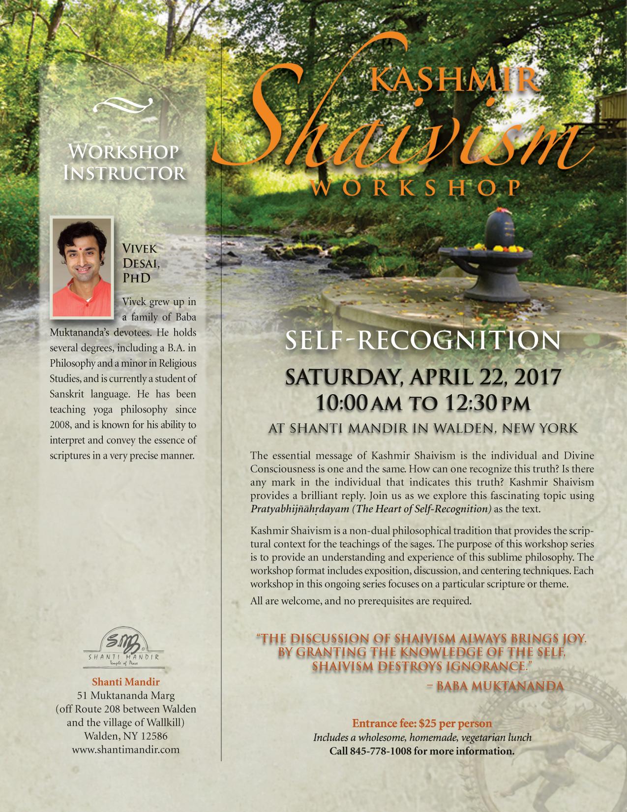 Kashmir Shaivism Workshop Flyer-Apr 2017
