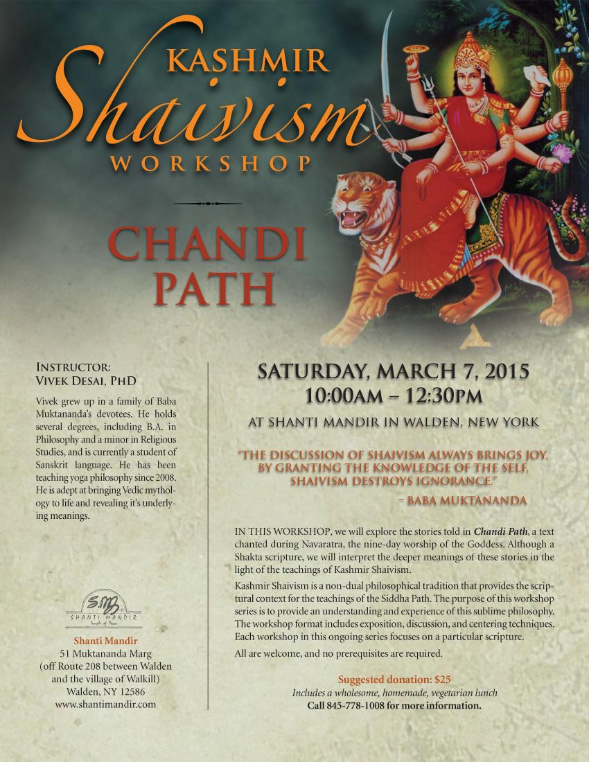 Kashmir Shaivism Workshop Flyer-Mar 2015