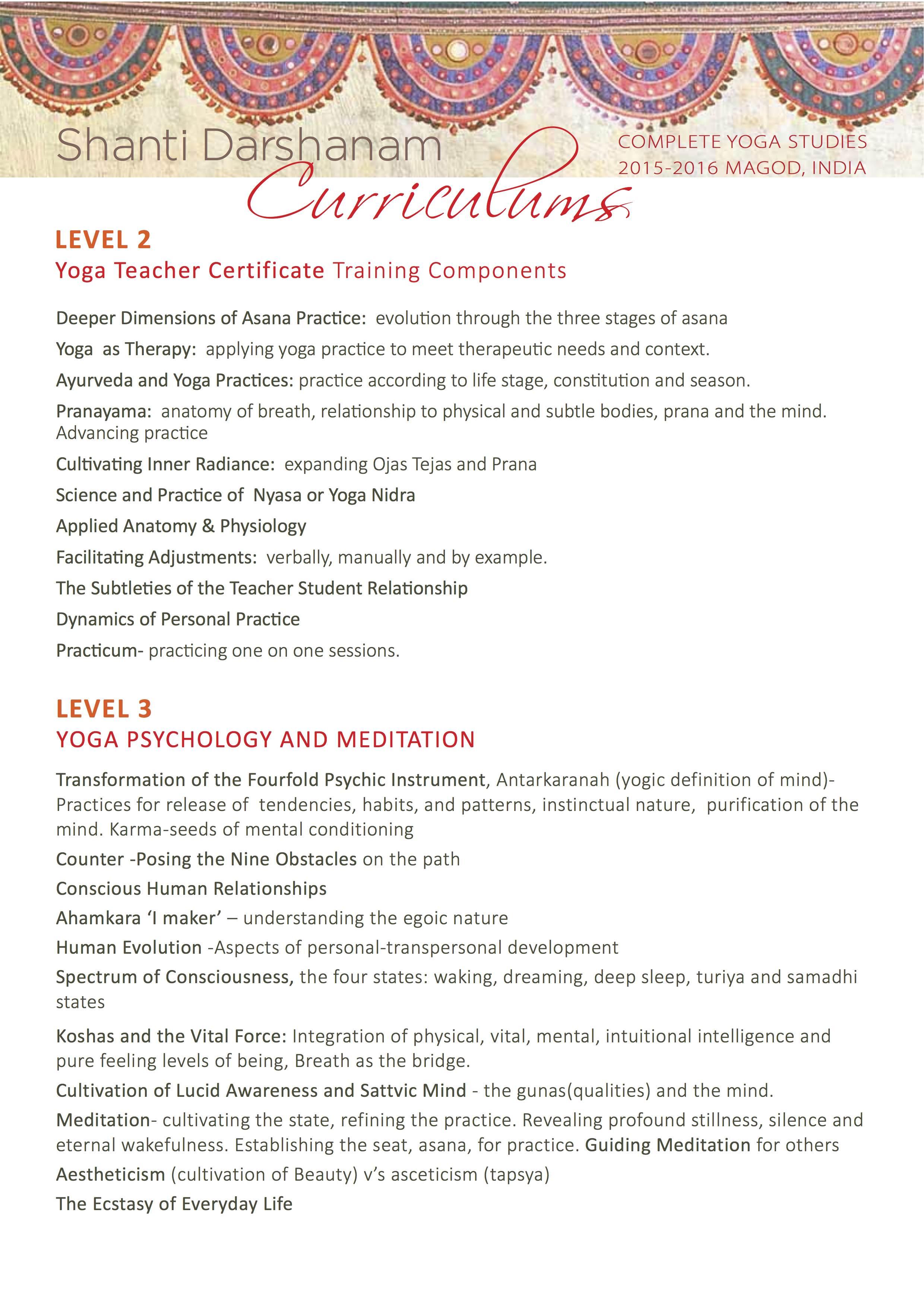 SD Magod-Level 3 Curriculum-2015-16 - Shanti Mandir