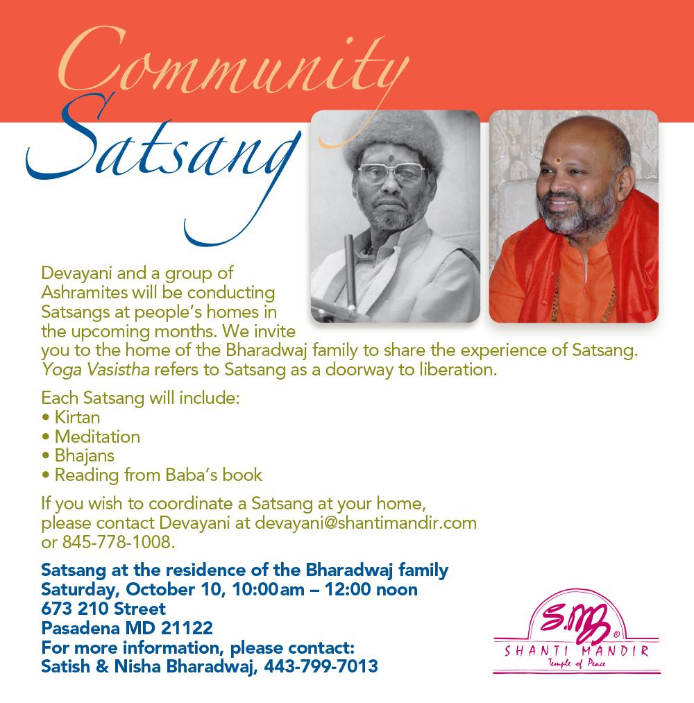 Community Satsang-10-10-15-#2