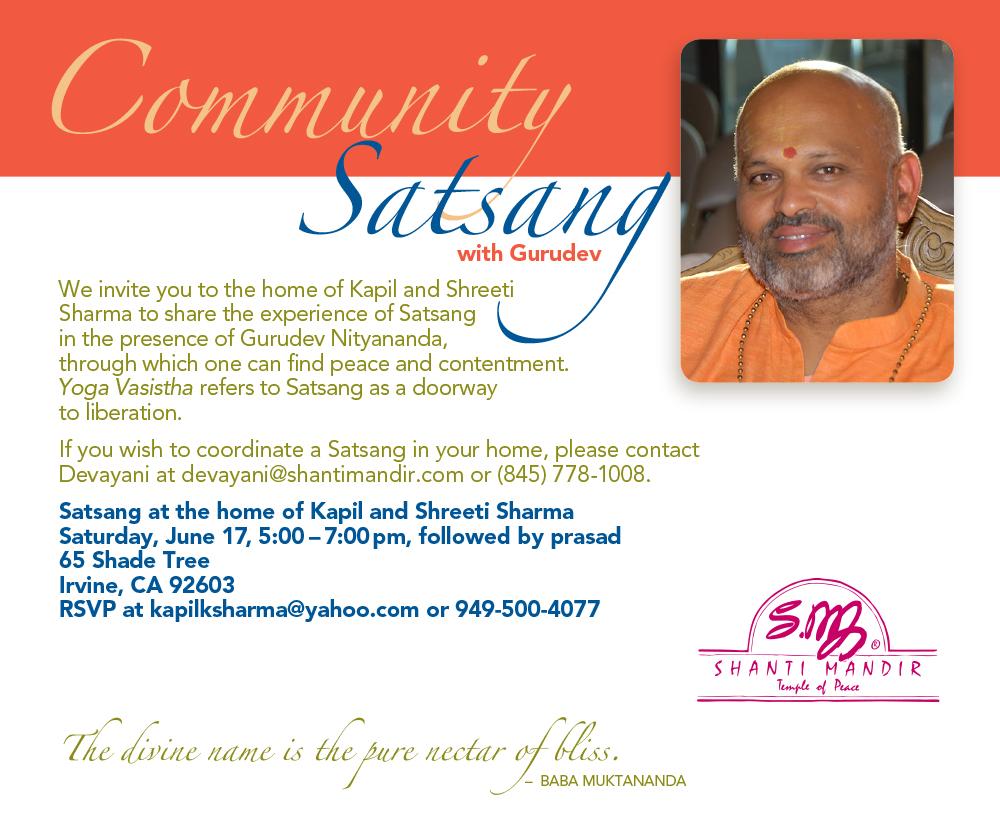 Community Satsang-IrvineCA-June 2017