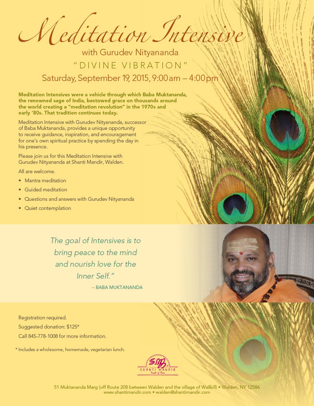 Meditation Intensive Flyer-Sept 2015