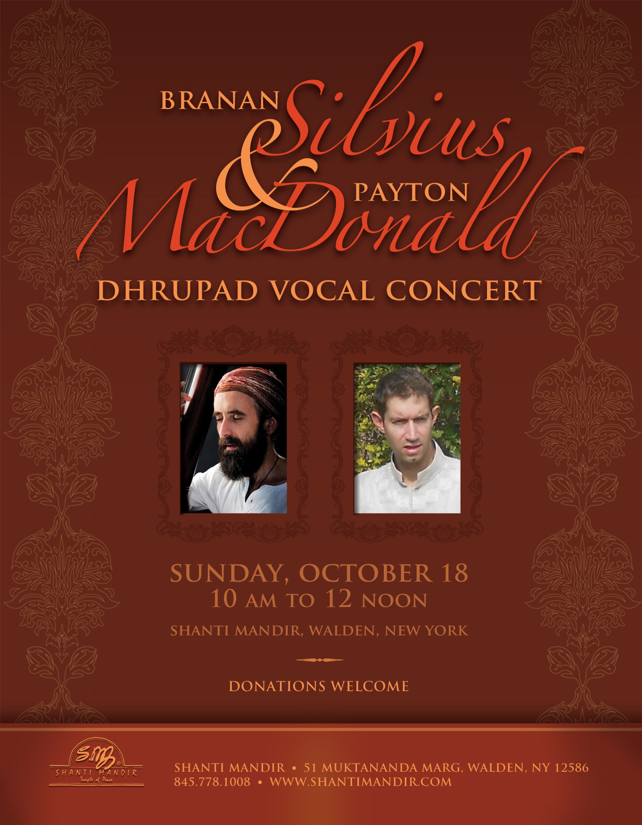 Branan Silvius Concert Flyer-Oct 2015