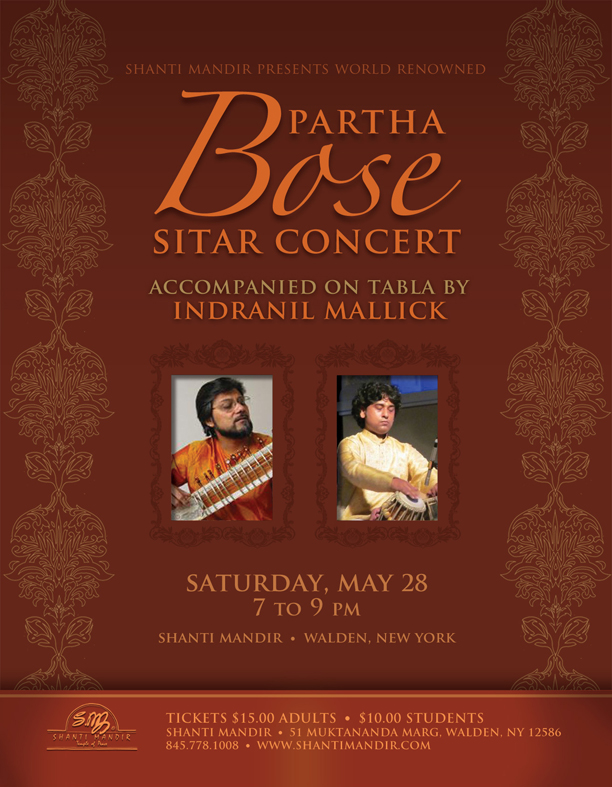Partha Bose Concert Flyer-May 2016