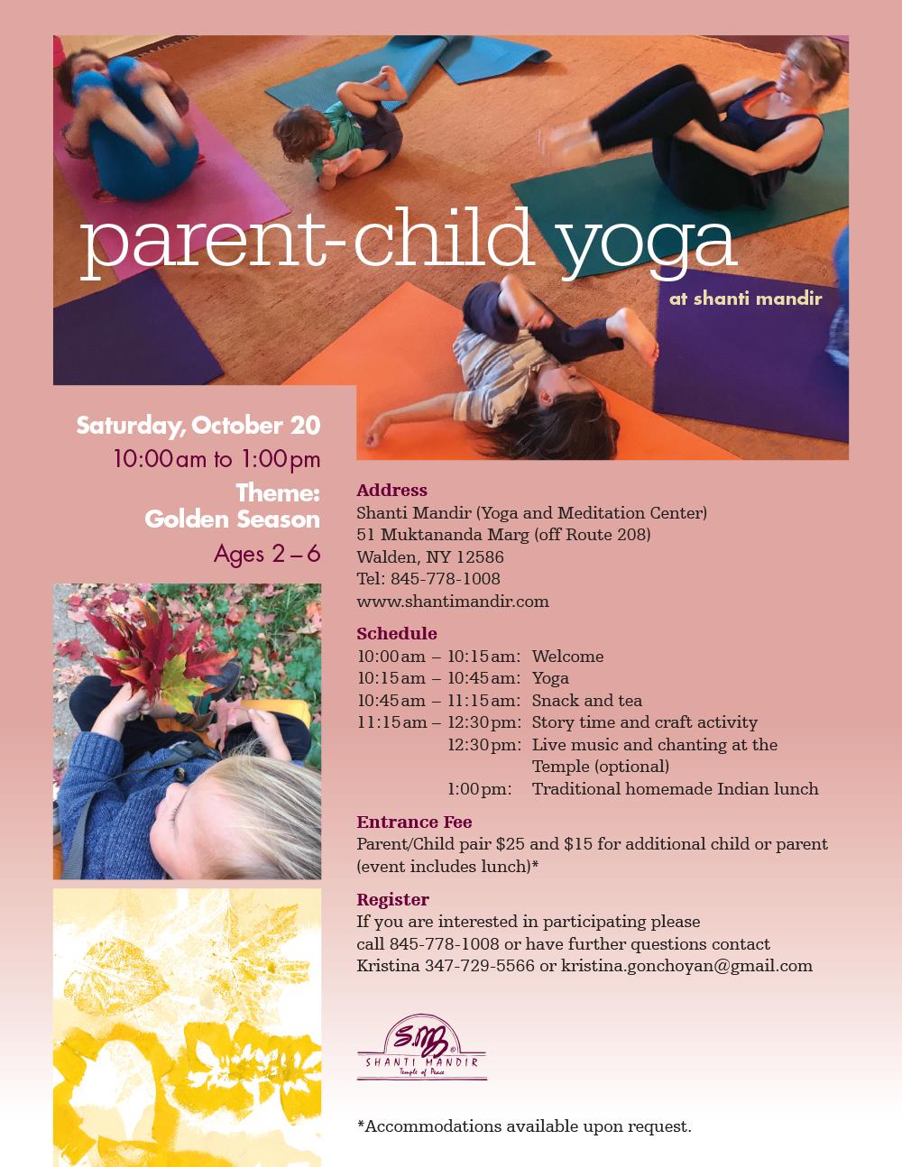 Parent Child Yoga Program Shanti Mandir